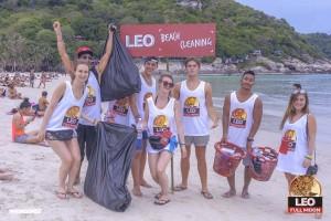パンガン島でフルムーンパーティービーチクリーニング!